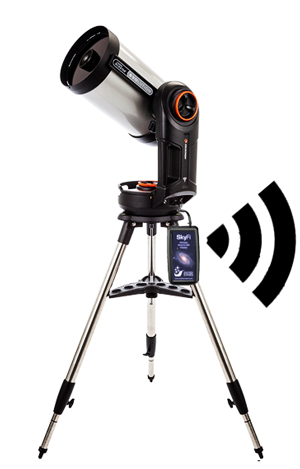 SkyFi and Celestron Evolution 8 Telescope